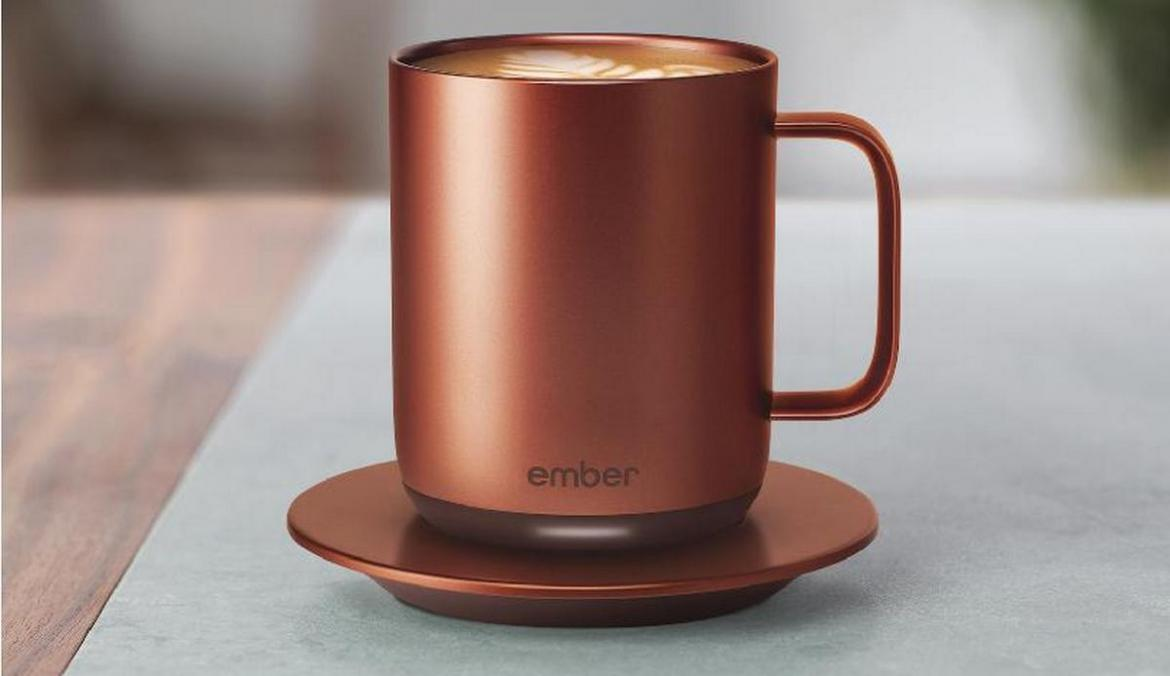 An app controlled copper cup so your morning cuppa is always at the perfect temperature -