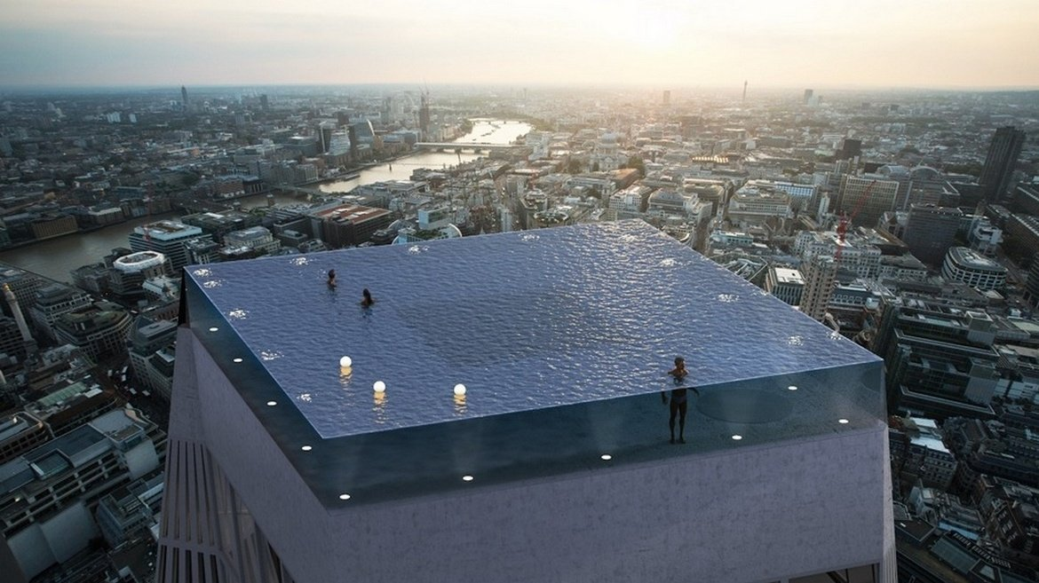 It's not Dubai or Singapore but London that is getting the worlds first 360-degree infinity swimming pool