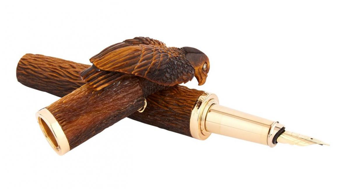 An ode to Neoclassicism: The all new Tiger Eye Eagle fountain pen by S.T. Dupont -