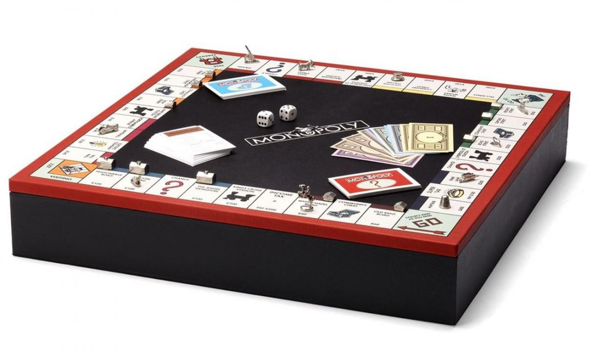 A Monopoly set for the ultra-rich - Costing $1400 this exclusive set is made from red and black lambskin leather -