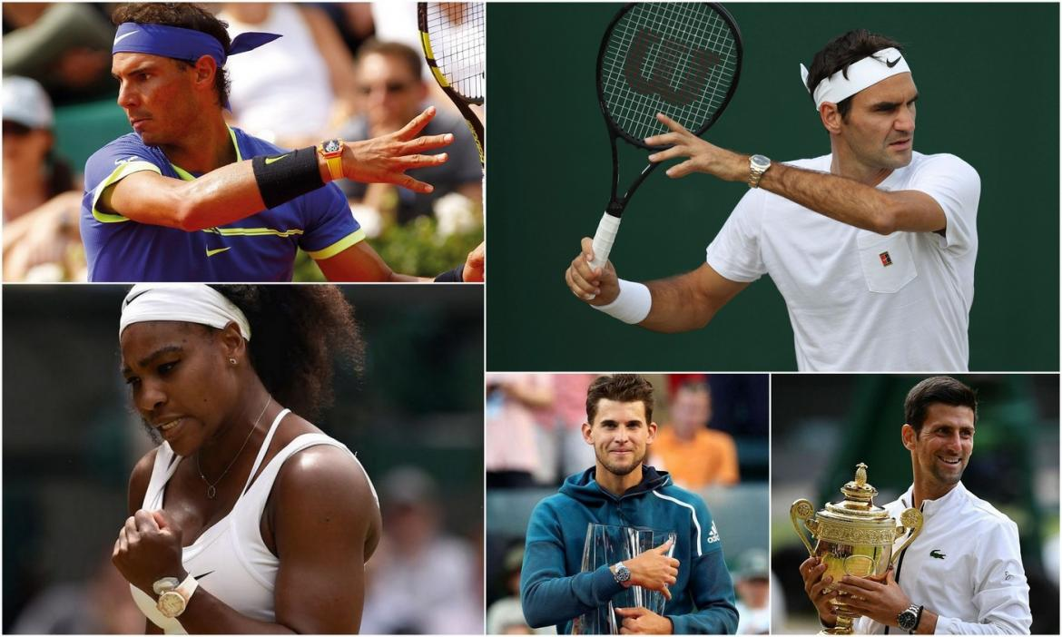From Roger Federer to Rafael Nadal to Serena Williams - Here are the luxury watches worn by the biggest names in Tennis -