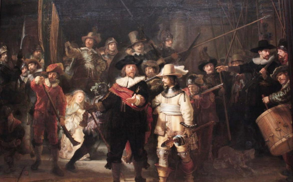 Rembrandt's iconic Night Watch painting at the Rijksmuseum is undergoing a live restoration -