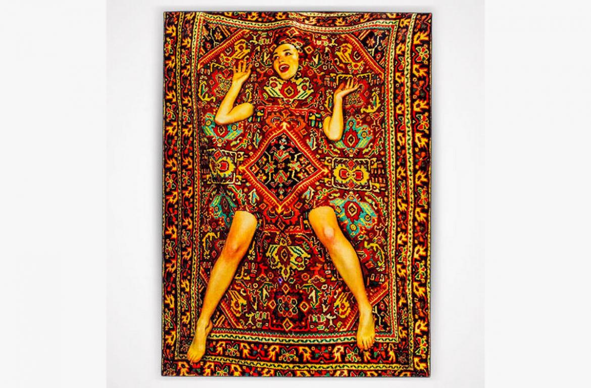 Bizarre carpet with illusion of a lady costs $1,600 -