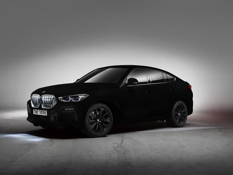 Painted With Vantablack This Bmw X6 Is The Worlds