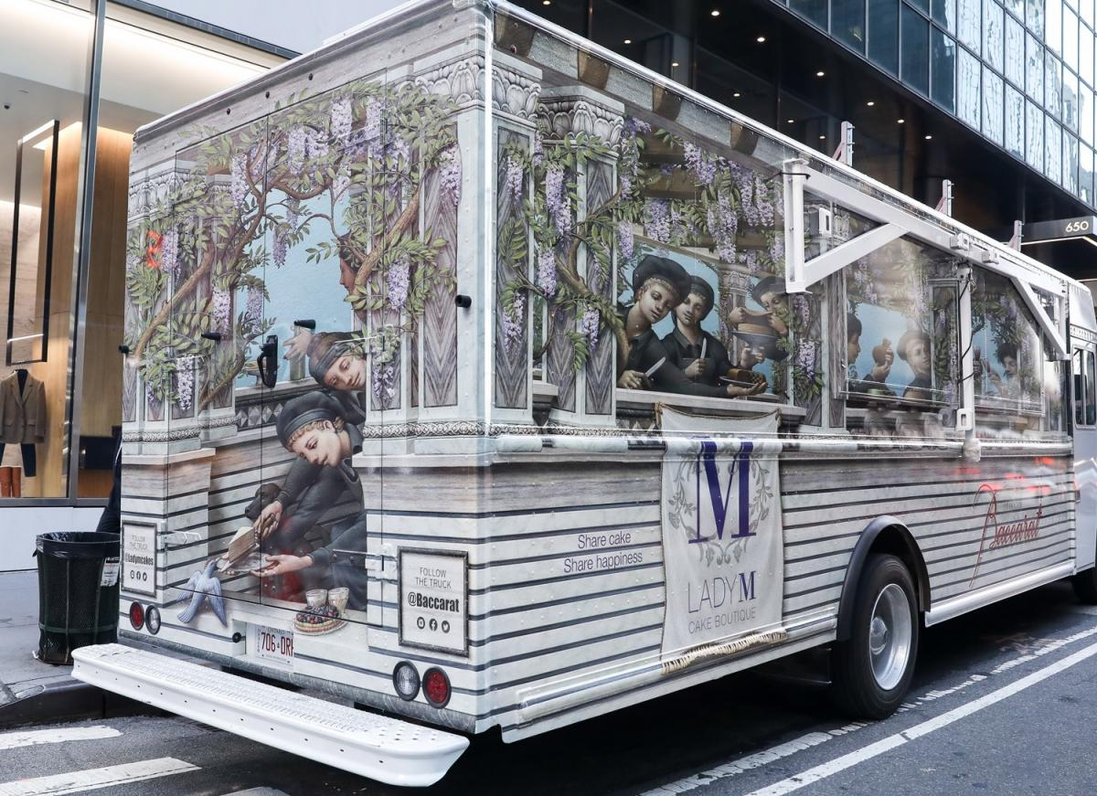 Baccarat hotel New York and Lady M unveil the world's first luxury cake truck