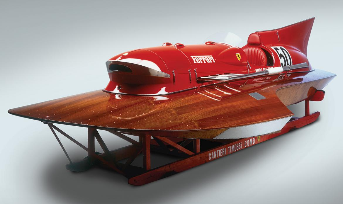 A One-of-a-kind Ferrari race boat that set a world speed record is up for sale -
