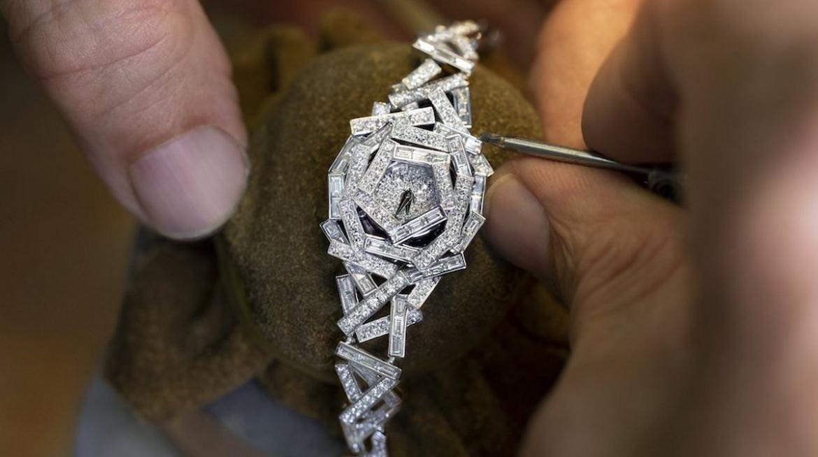 Graff's newest watch is stitched with diamond 'thread' -