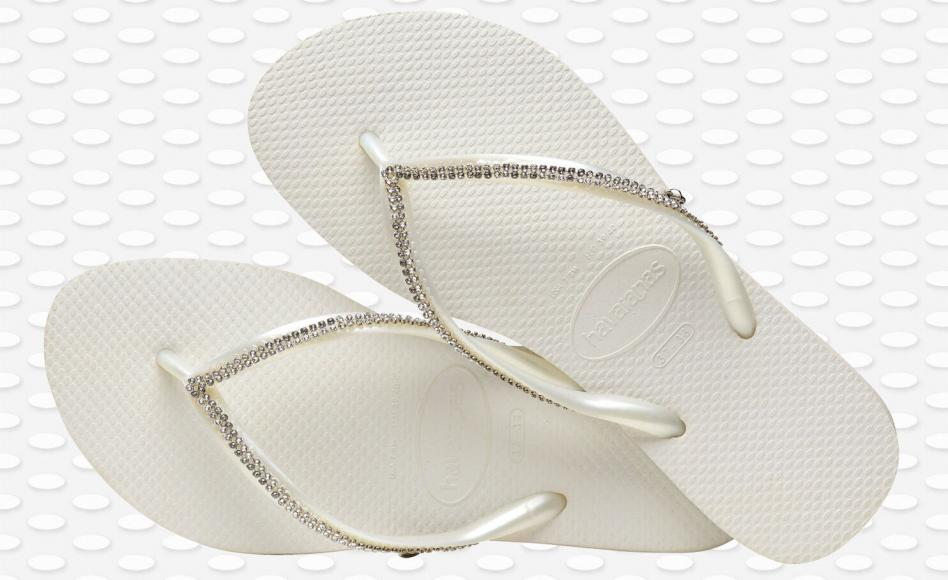 Slim Crystal Mesh Havaianas with Swarovski crystals cost $144 -