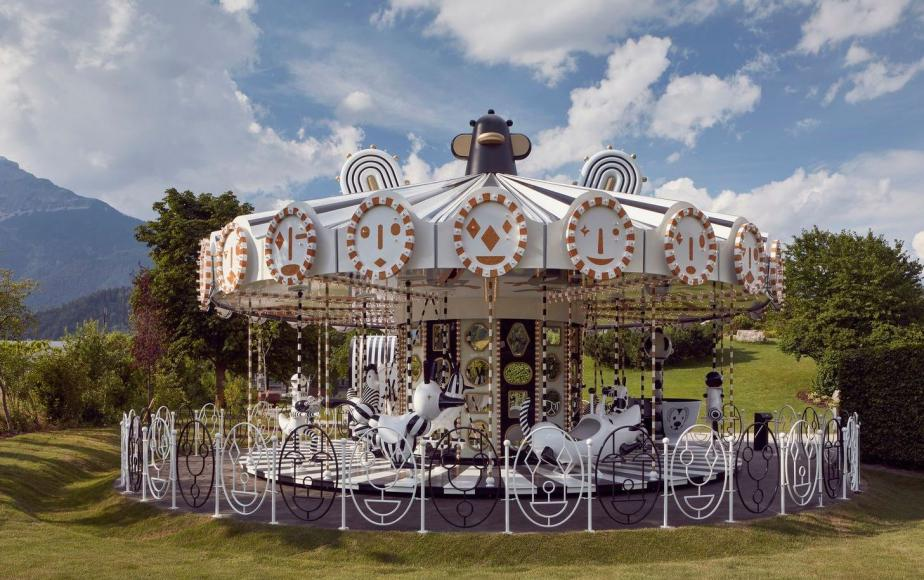Swarovski unveils a rideable carousel decked with 15 million shimmering crystals -