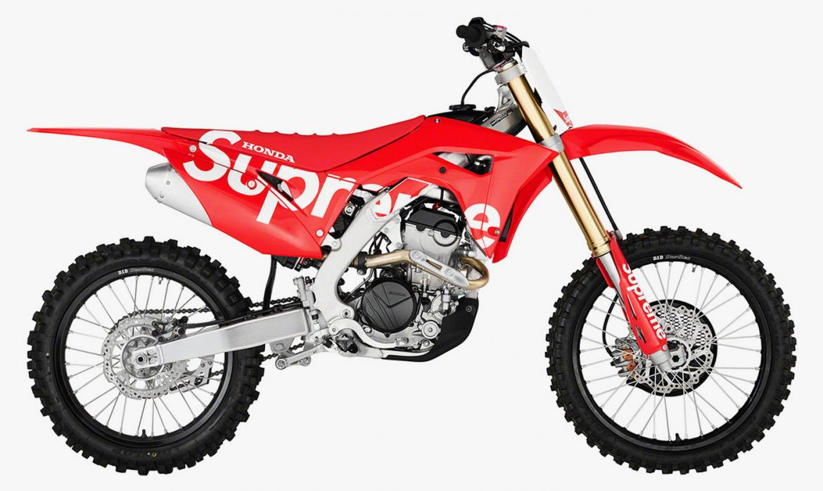 Supreme collaborates with Honda on a crazy dirt bike for its 2019 Fall/Winter collection -