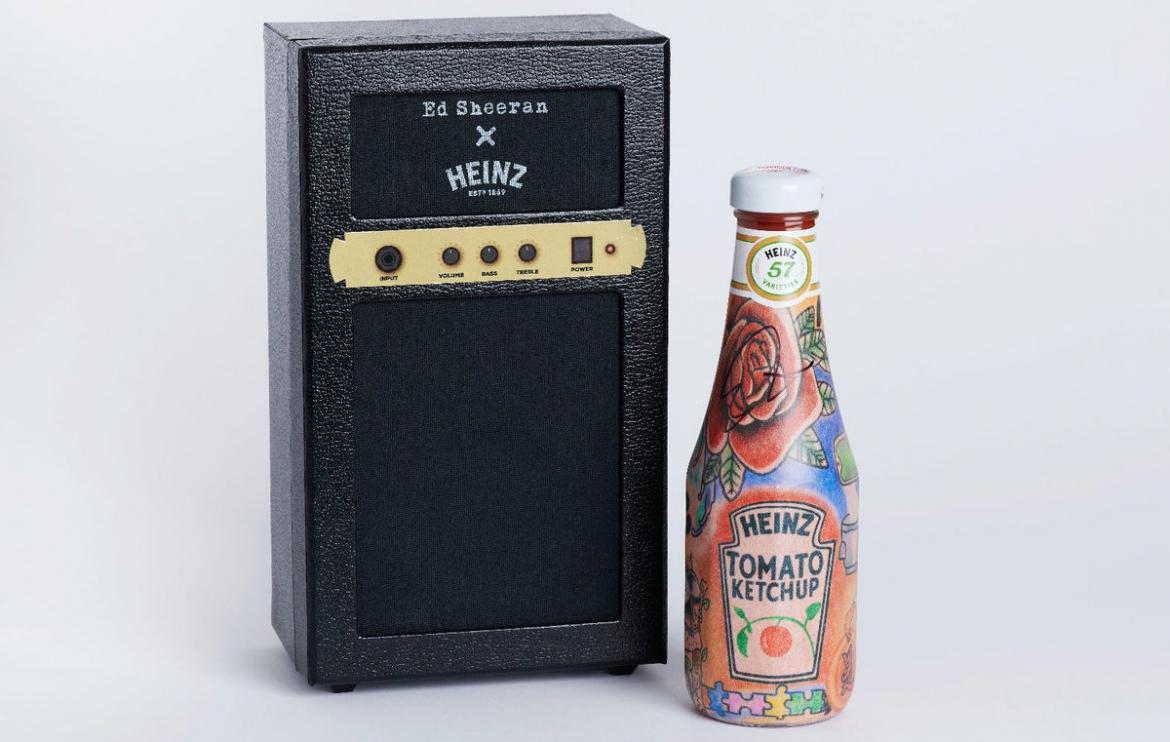 Ed Sheeran's Love for Heinz Immortalized with Matching Tattooed Ketchup Bottles. -