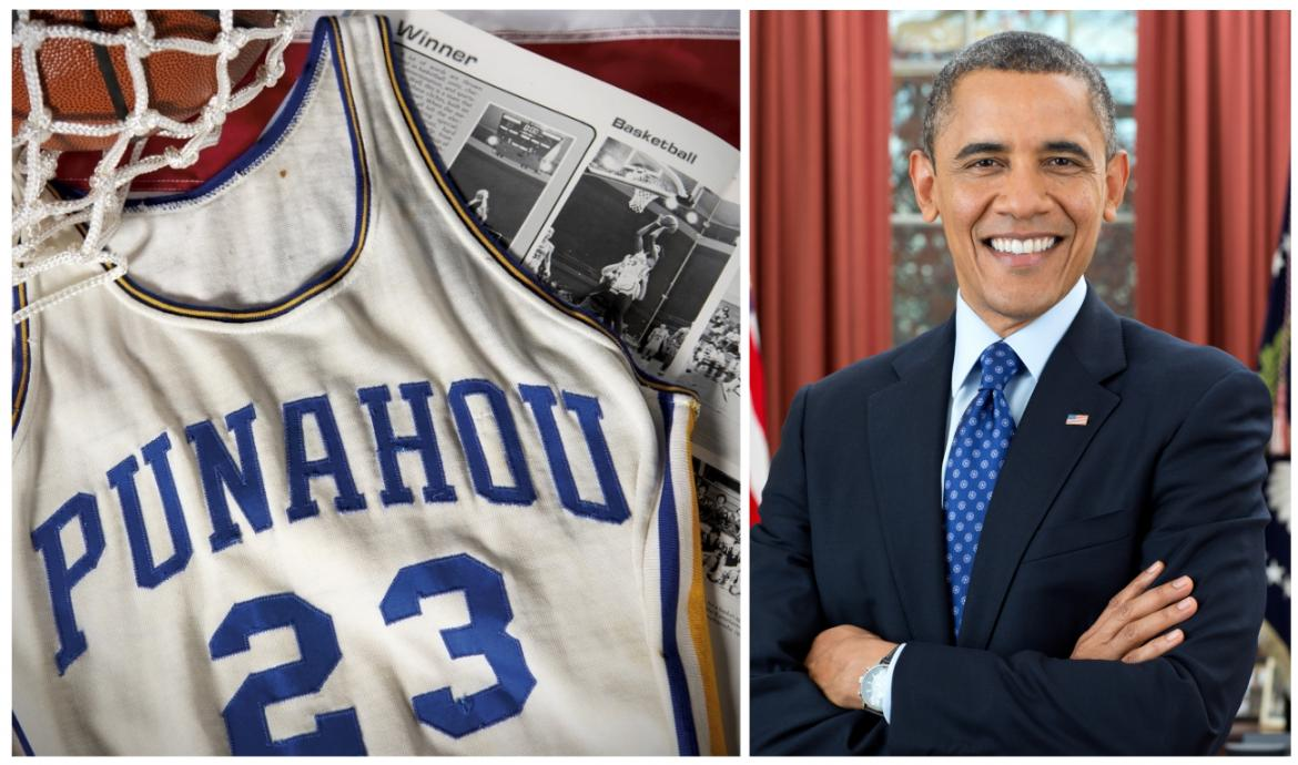 Barack Obama's high school basketball jersey has sold for a whopping $120,000 -