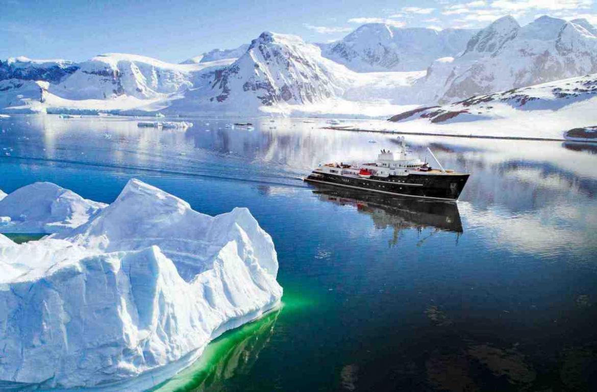 Get a glimpse of Antartica in utmost luxury onboard this super yacht -