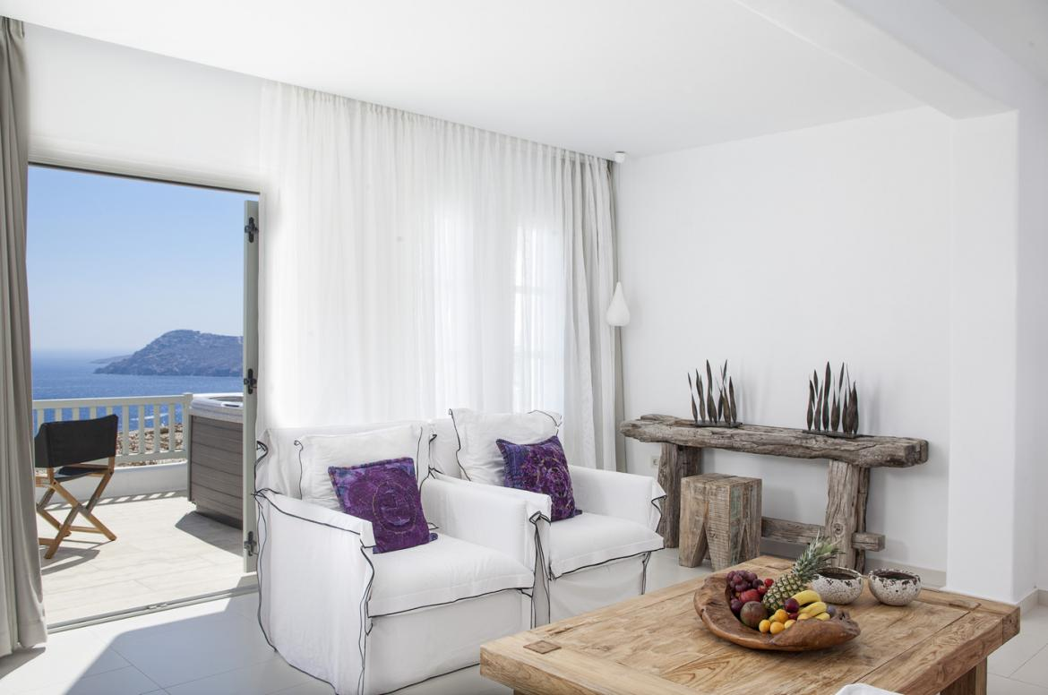 Suite of the week: Mesmerizing and true to its name, Elegant Suite, at Myconian Villa Collection, Mykonos -
