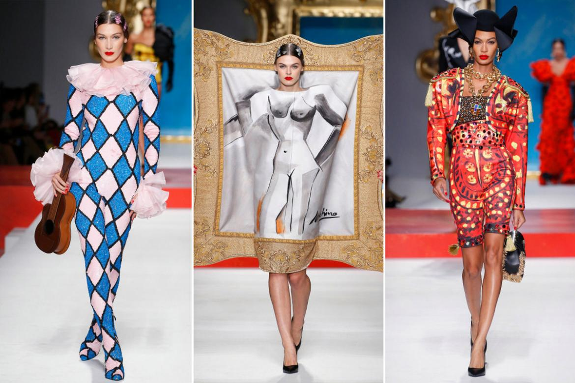 Moschino unveils exclusive Picasso inspired collection at the Milan Fashion Week -