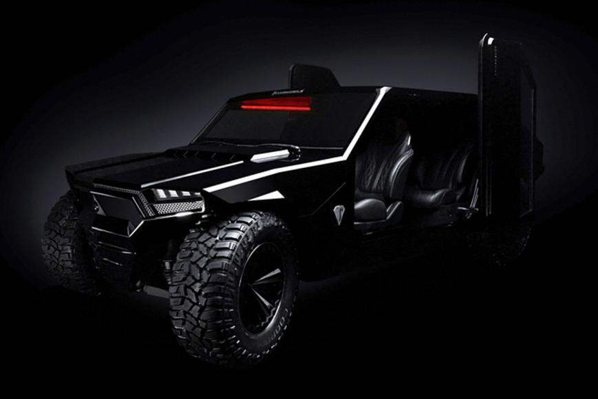 Inspired by the devil this million-dollar SUV comes with bulletproof armour, floats on water and can be opted with tank tracks -