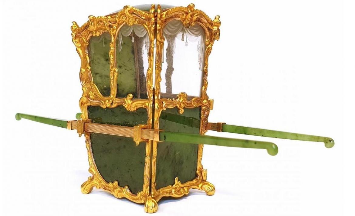 The size of an iPhone - This miniature Faberge chair was just auctioned for $591,000 -