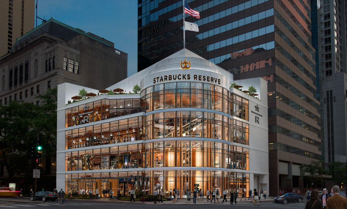 Spread across 43,000 square feet take a look inside the largest Starbucks in the world