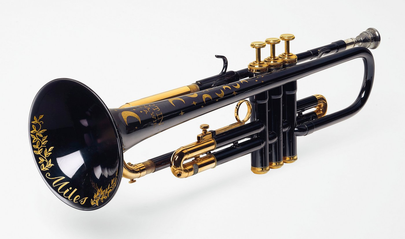 Jazz legend Miles Davis' moon and star trumpet to be ...