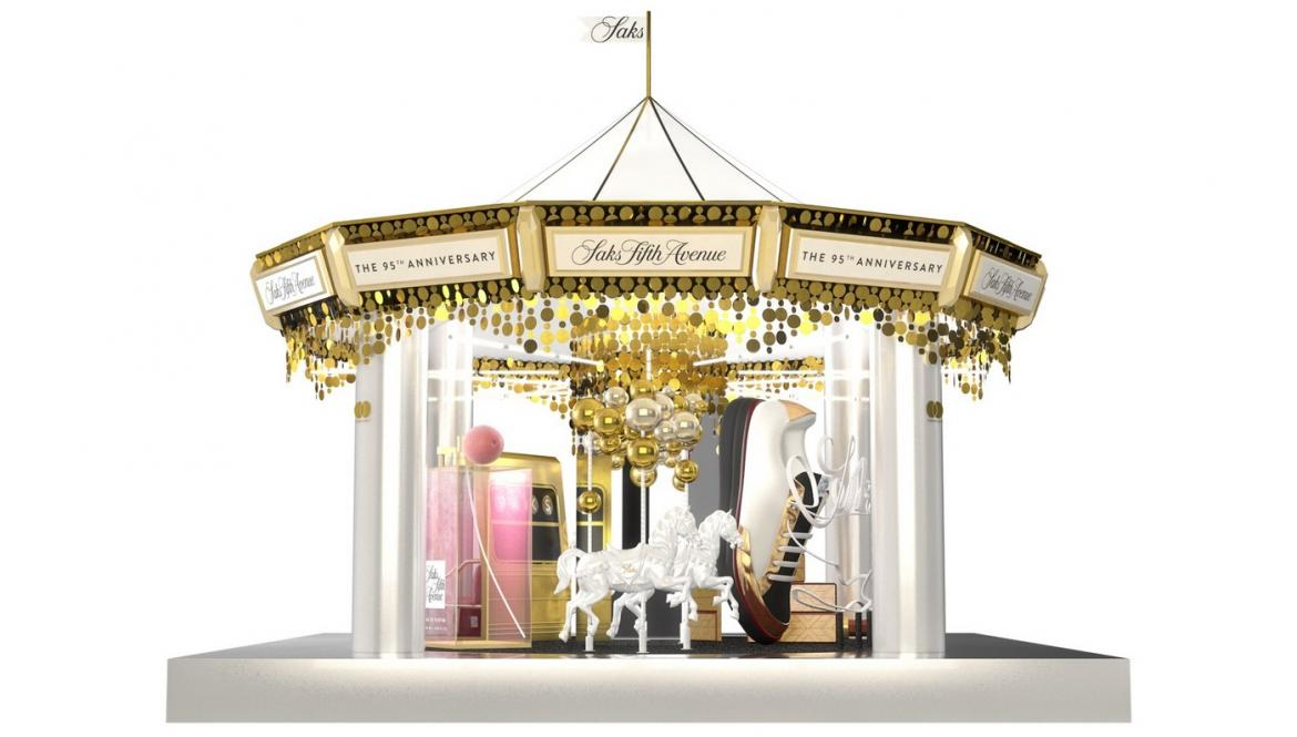 Saks is celebrating its 95th anniversary with an opulent carousel that New Yorkers can actually ride on -