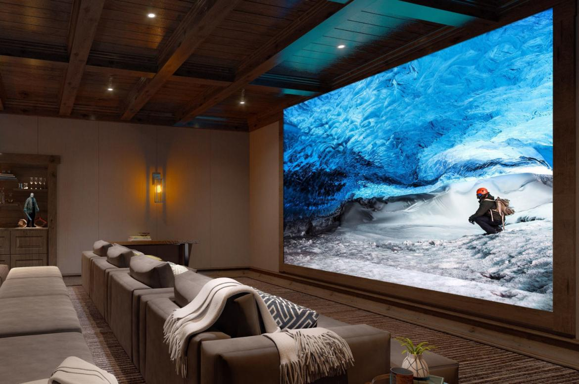The mother of all TV's here - Its 16k, 63 foot wide and costs $6 million -