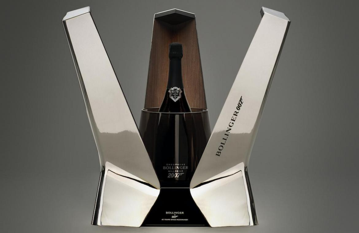 Bollinger celebrates 40-year James Bond partnership with a Moonraker inspired champagne -