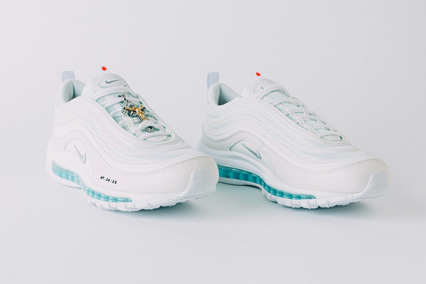 Costing $3,000 these Nike Air Max 97s are injected with holy water