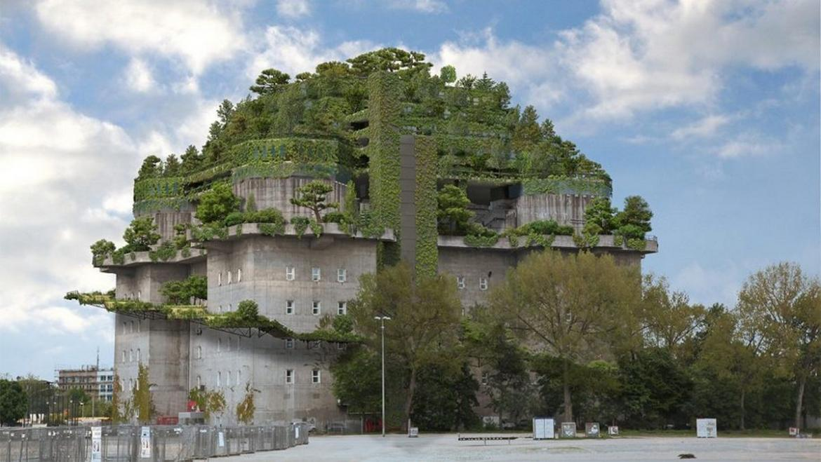 A former Nazi bunker in Hamburg will be converted into a luxury hotel -
