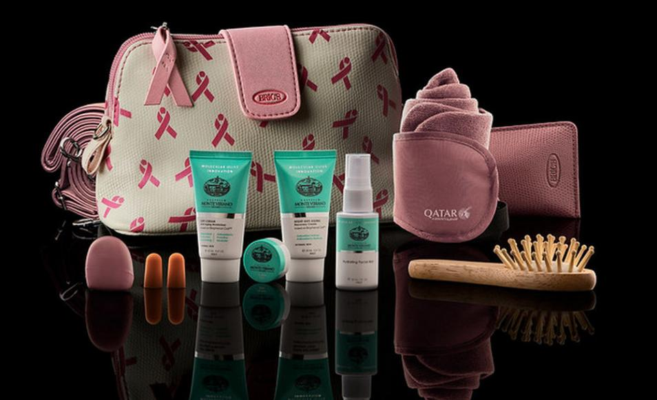 Qatar Airways to offer pink-themed limited edition amenity kits in a bid to support Breast Cancer Awareness Month -