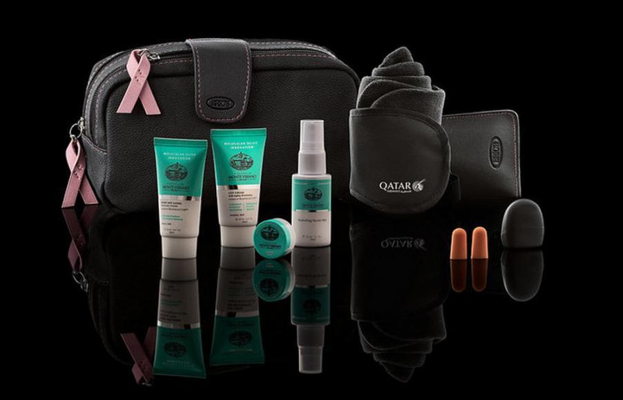 Qatar Airways Limited Edition Amenity KitsBreast Cancer Awareness (4)