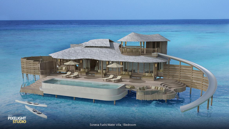 Maldivie's iconic Soneva Fushi resort to get overwater villas with their own water slides -