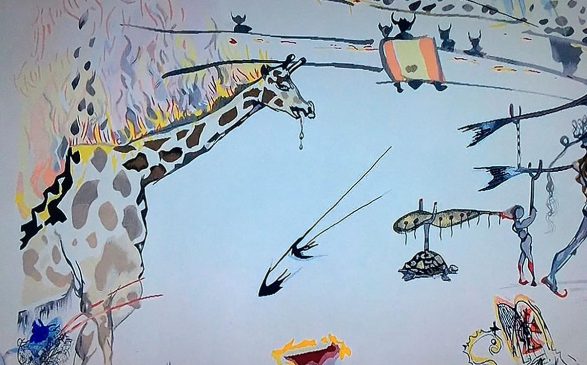 A thief walks into a San Francisco art gallery and casually steals a $20,000 Salvador Dalí Etching -
