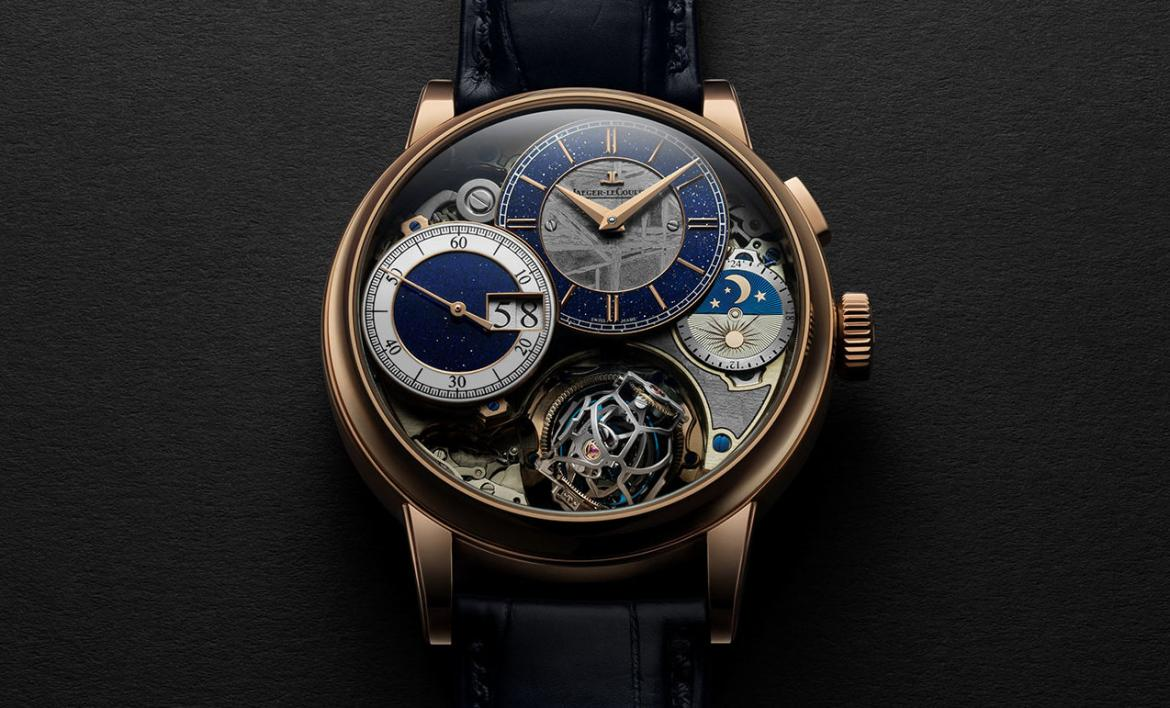 Jaeger-LeCoultre latest Gyrotourbillon timepiece combines the traditional artistic crafts with the rarely seen craft of meteorite inlay -