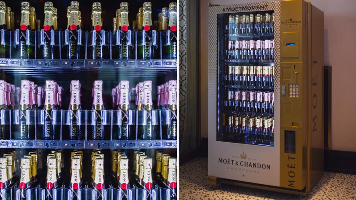 New York City has received its very first Moët & Chandon champagne vending machine -