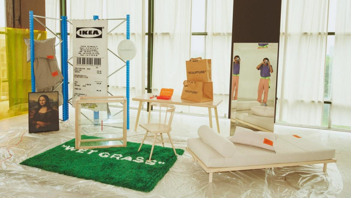 Louis Vuitton's Virgil Abloh designed a $500 rug for IKEA and it sold out in just 5 minutes -