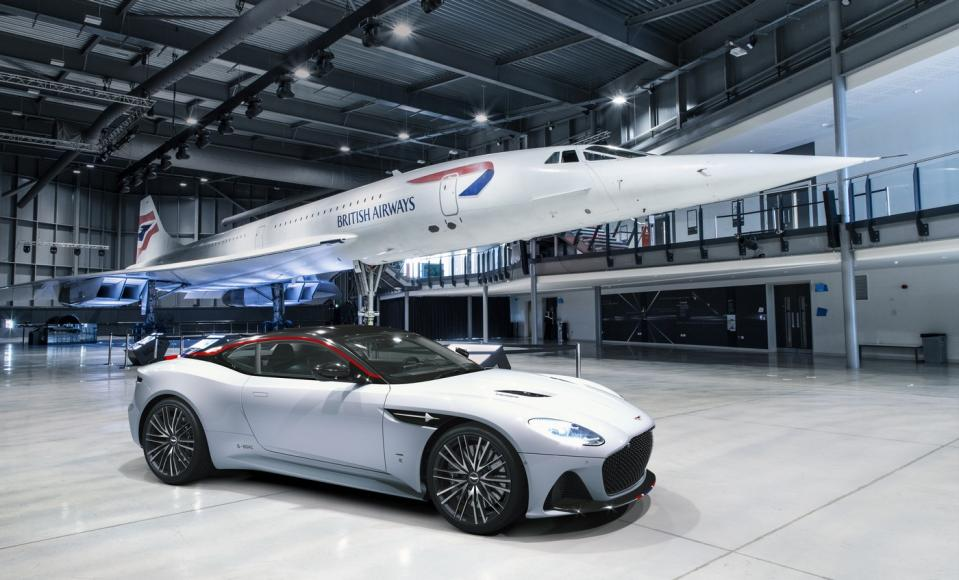 Aston Martin DBS Superleggera Concorde Edition celebrates the 50th anniversary of the supersonic jet's first flight -