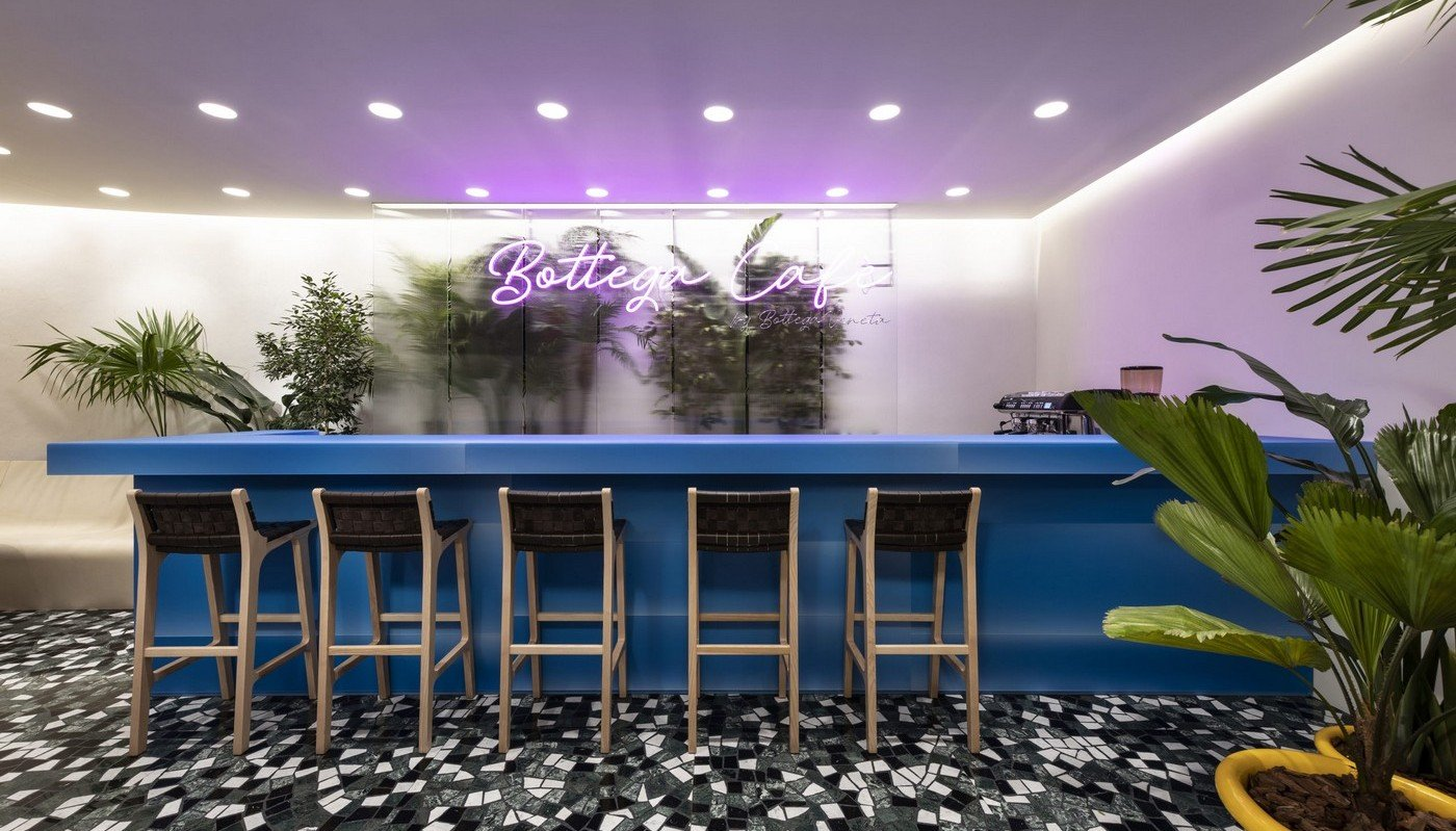 Bottega Veneta has opened its first-ever cafe serving Italian aperitivo and wine : Luxurylaunches
