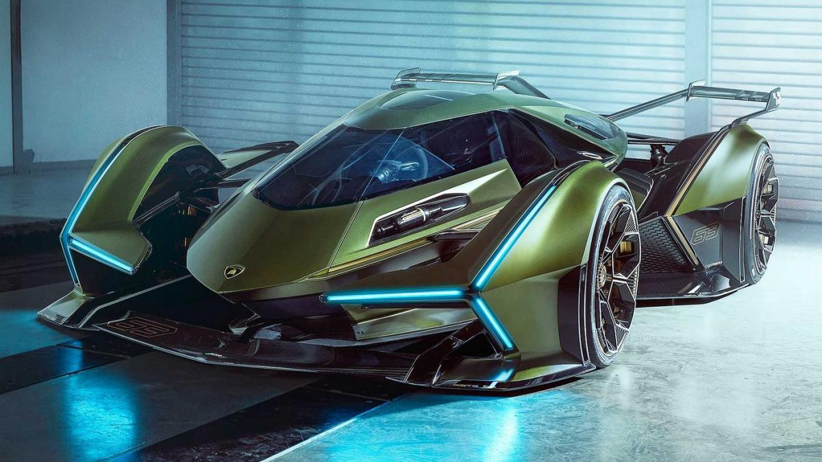 The Lamborghini's V12 Vision Gran Turismo Concept looks like a batmobile from the future