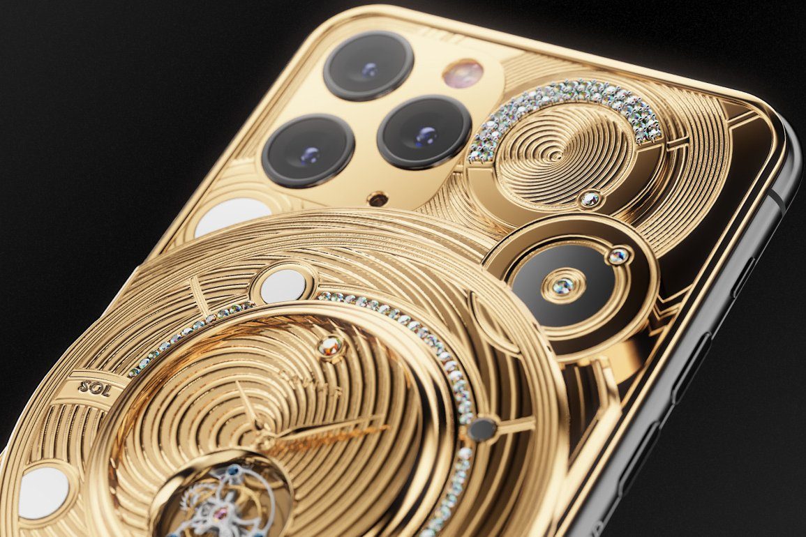 This Gold Encrusted One Off Iphone 11 Pro By Caviar Costs