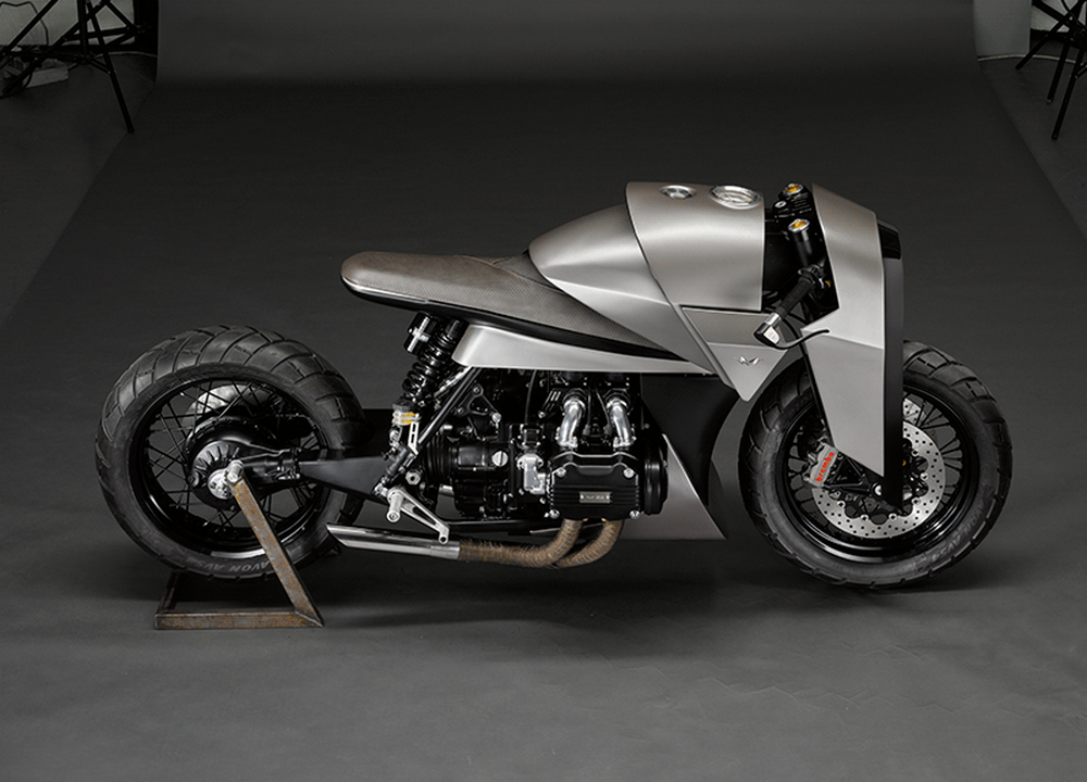 This futuristic, samurai-inspired motorcycle is one of the coolest custom-builds we've seen