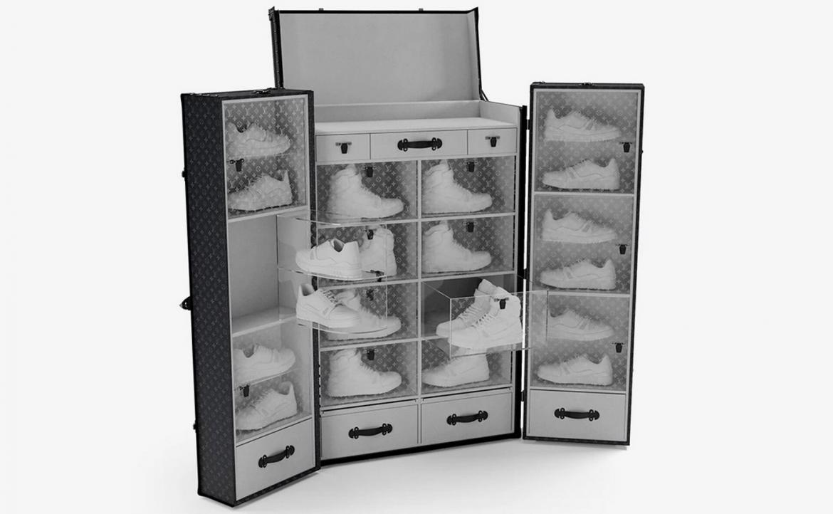 Louis Vuitton's insane sneaker trunk is just the place for your Yeezy's and Air Force 1's -
