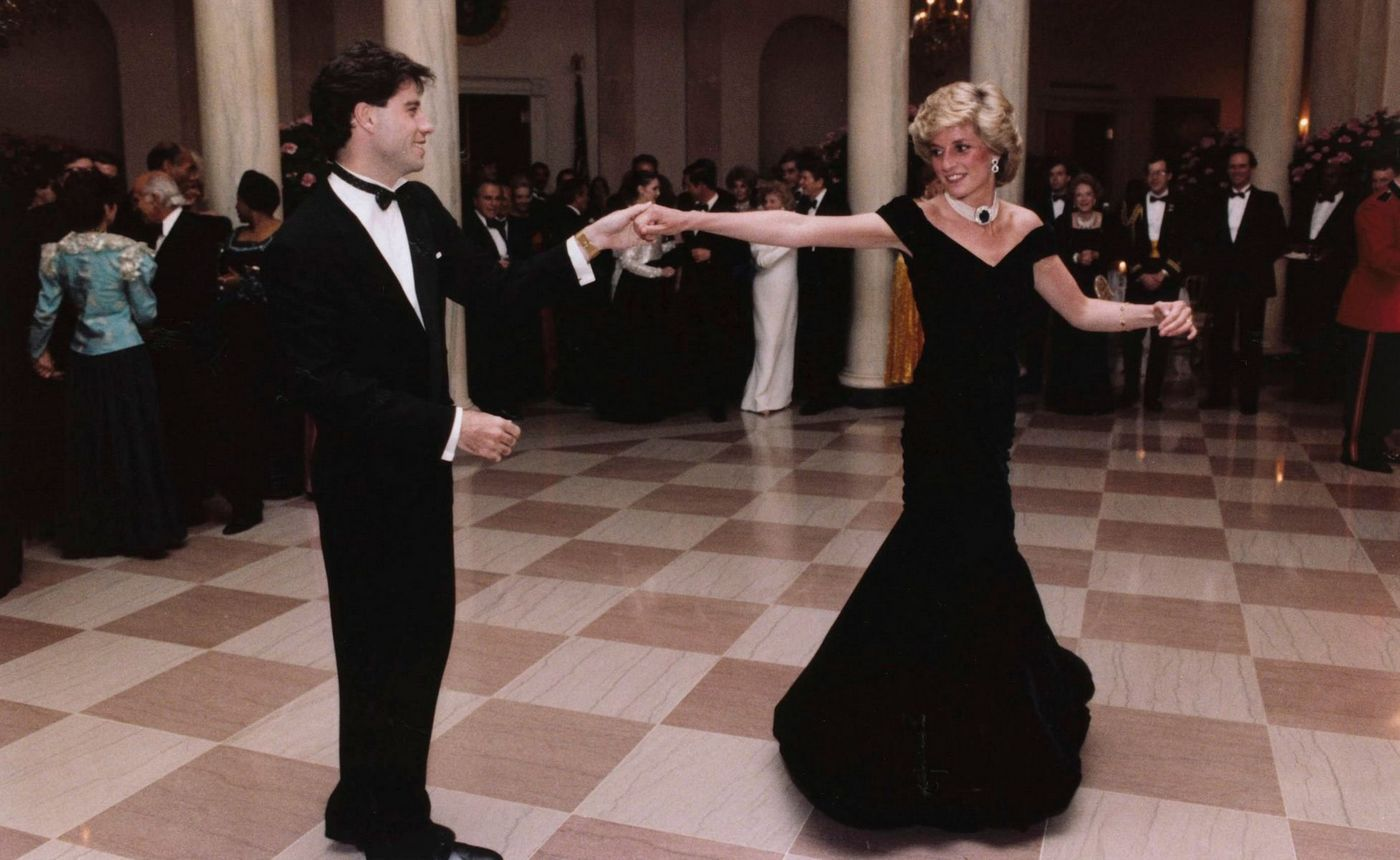 The dress Princess Diana wore to dance with John Travolta at the White House is on sale for $455k