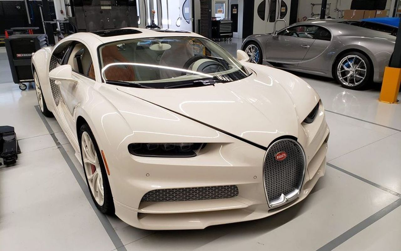 This bespoke Bugatti Chiron that was created in collaboration with Hermes