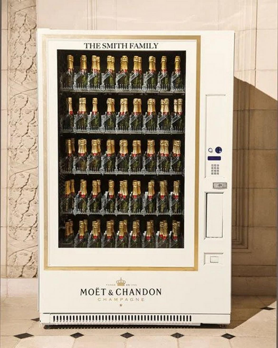 Never run out of bubbly - Now you can buy you very own Moët & Chandon champagne vending machine for $35,000 -