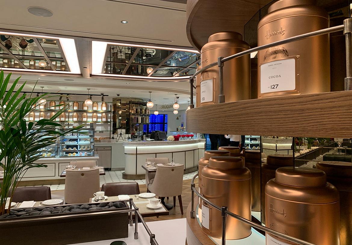 Doha airport is the first in the world to get a Harrods tea room -