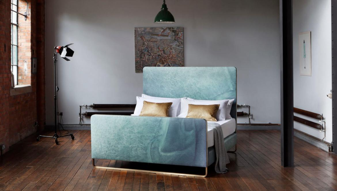 Savior Beds partners with Leather specialist and designer Bill Amberg for a new duo of luxury beds -