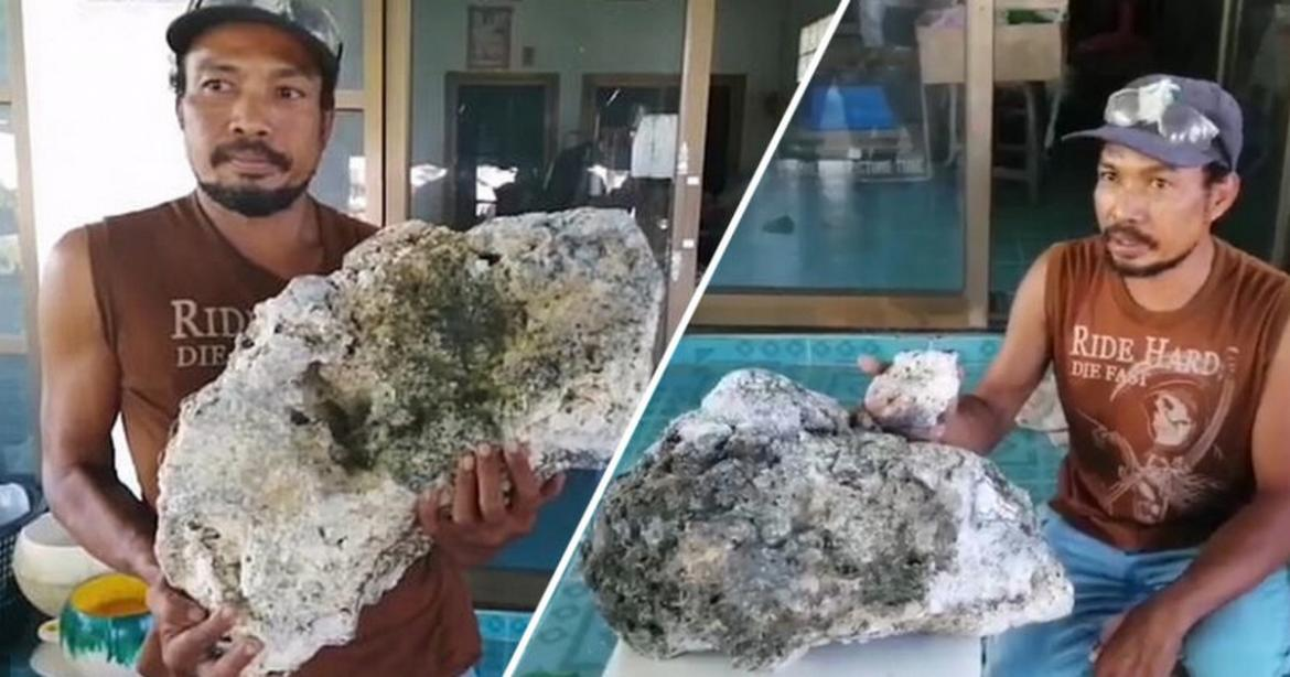 Lucky day at the beach - Thai scavenger finds whale puke worth a staggering $665,000 -
