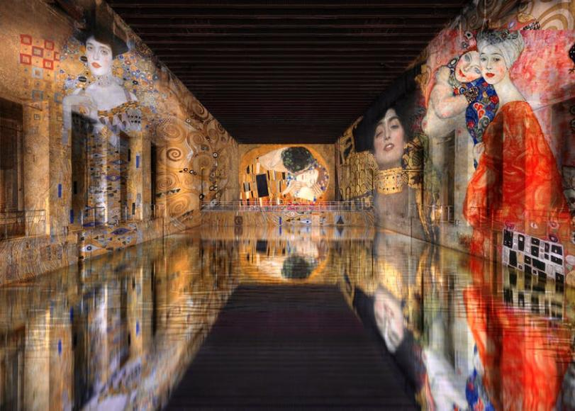 French studio Culturespaces transforms WWII submarine into the world's biggest digital art center -