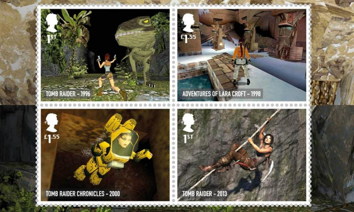 From Worms to Tomb Raider - The Royal Mail's newest stamp collection pays homage to classic video games from UK designers -