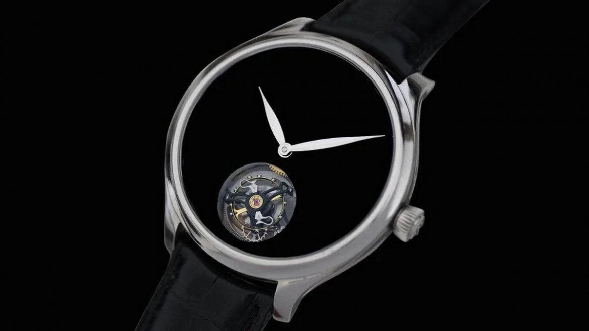 This $75,000 limited edition watch features a dial that is finished in the blackest black -